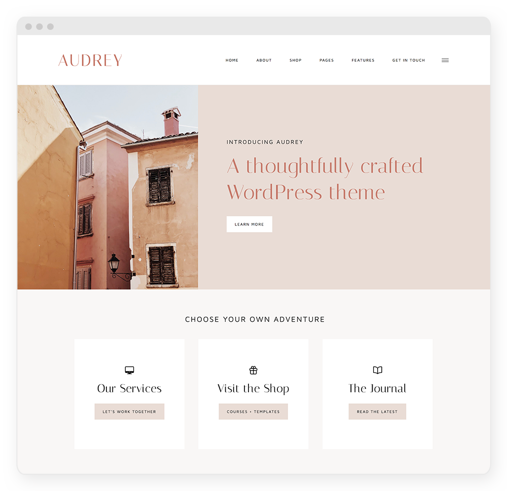 Audrey WordPress Theme